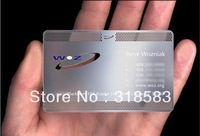 100pcs/lot custom high quality stainless steel business card 85mm*54mm*0.25mm