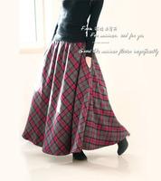 Thickening edition skirt autumn and winter wool expansion bottom half-length full dress 2012 women's bust skirt