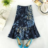 National 2013 trend fluid skirt full dress summer linen skirt bohemia skirt bust skirt