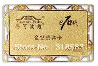 200pcs/lot custom Premier metal business cards 85mm*54mm