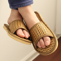 Lovers design summer rattan slippers flat slip-resistant shoes home drag 31076