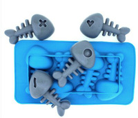 4-Fish Bones Ice Molds For Sale Cake/Chocolate/Jelly/Soap Silicone Molds