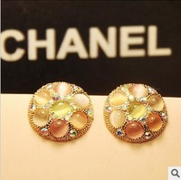 Min.order is $10 (mix order).Colorful opal stud earrings.welcome to buy