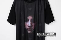 free shipping men's women's giv short sleeve t-shirt shirts fiv-star virgin grimace head print t-shirt shirts tops tees