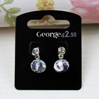 Accessories fashion diamond earrings female stud earring ct-14 crystal beads tt