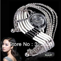 Free Shipping Fashion Women Cuff Bracelets Rhinestone Bangle Watch