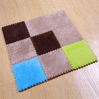 Free shipping magic cube mats 30*30*0.8cm*9 pieces  soft Shaggy mat magic cube slip-resistant carpet mats child crawling mat