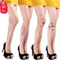 HOT SELLING! TATOO PRINT SEXY Ultra-thin stocking summer women's long socks POPULAR Stylish Tatoo Pattern invisible pantyhose