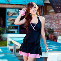 2013 one-piece dress female swimwear plus size swimwear swimsuit hot springs
