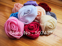 Free shipping!330pcs chiffon fabric diy rosette flower for garments shoes hats brooches hair ornaments accessories