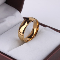 2pcs/lot Light version 18K gold plated rings 316L Stainless Steel ring men women jewelry Free shipping wholesale lots