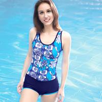 One piece swimwear one piece swimsuit female plus size plus size hot spring swimwear