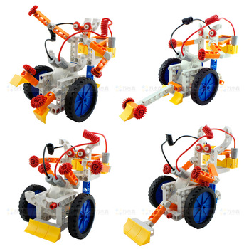 free shipping Planet robot 4 1 electric assembling building blocks toy