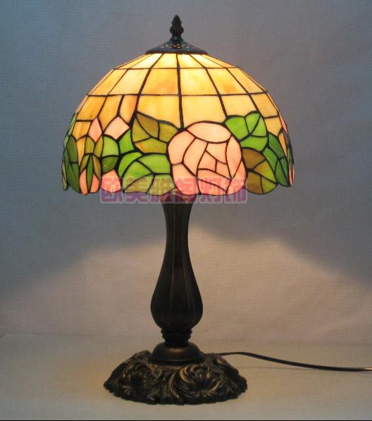Tiffany table lamp fashion table lamp rustic table lamp rose(China (Mainland))