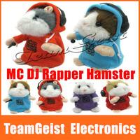 4pcs/set Electronic Baby Doll hamster MC DJ Rapper Mimiicry Wear Clothes Repeat Talking Plush & Kids Early Educational Pet Toys