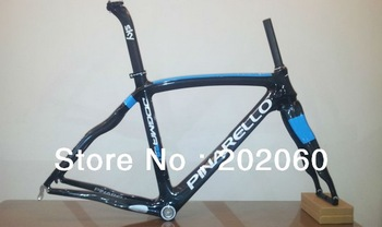 1K carbon 2013 model Asymmetrical Pinarello Dogma 65.1 think2 799 Sky Carbon Bicycle Frame+fork+seatpost+clamp+headset