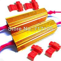 2pcs 50W Gold Fuse 6ohm LED bulb Light Turn Signal Load Resistor Fix Error Flash Blinker Canbus Warning Controller Capacitor
