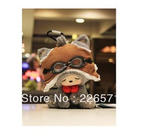 Lucky cat pilot Version; cartoon style; Children's day plush lovely toys; birthday gifts