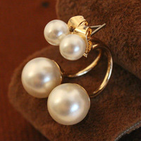 Min.order is $15 (mix order)2013 Simulated pearl stud earrings for women,Fashion jewelry,Gold plated stud earring gift EE1178