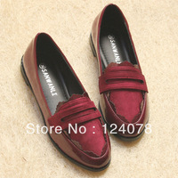 women's flat single shoes vintage casual shoes british style summer Gommino shoes