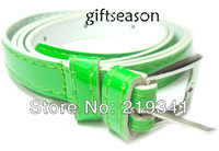 Women's Cute Candy color PU leather Thin Belt   PD007