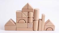 High-grade beech wood beech wood color blocks big bricks 22 children's educational wooden toys