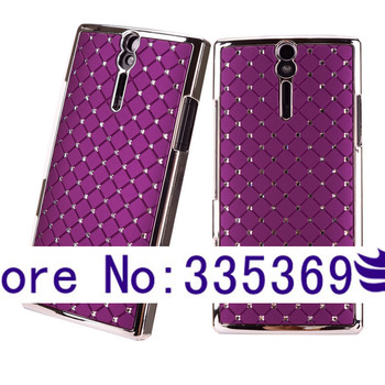 Glitter Bling Studded Rhinestones LT26i Case For Sony Xperia S /Xperia Arc HD CellPhone Cover FREE SHIPPING