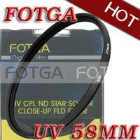 Free shipping!Wholesale!Fotga 58mm 58 mm Haze UV Filter Lens Protector for Canon Nikon Sony Olympus Camera