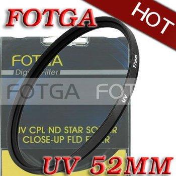 Free shipping!Wholesale!Fotga OEM 52mm 52 mm Haze UV Filter Lens Protector for Canon Nikon Sony Olympus Camera