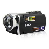 "HD-666V 5Mp FHD 1080P 3.0""TFT LCD 16X Zoom Digital Video Camcorder Camera Black Wholesale Free Shipping #210025"