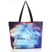 FREE SHIPPING Fashion Walker  HB013 Galaxy Starry Triangle Printed Women Handbag Computer LAPTOP Ipad Shoulder Bag Recycle