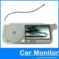 7 Inch TFT Wide Screen LCD Sun Visor DVD Player monitor + USB / SD+1440 x 234 Resolution and  remote control FM FREE SHIPING