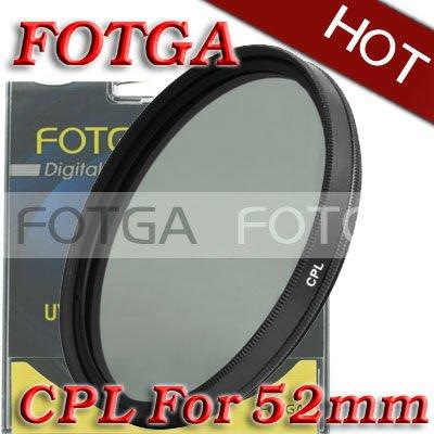 Free Shipping!Fotga OEM Wholesal 52mm Circular Polarizing CPL C-PL Filter Lens 52mm For Canon NIKON Sony Olympus Camera(Hong Kong)