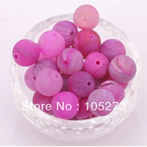 Wholesale Gem Stone Jewelry 10MM Round Rose Purple Fire Agate Loose Beads 15'' Fashion Wedding Party Gift Jewelry New Free Ship(China (Mainland))