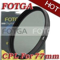 Free Shipping!Fotga Wholesal 77mm Circular Polarizing CPL C-PL Filter Lens 77mm For Canon NIKON Sony Olympus Camera
