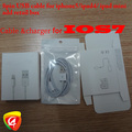 10sets=30PCS 8 pin USB Date Cable Connector Charger Adapter for iPhone 5 ipad mini ipad4 with poly bags retail box  Freeshipping(China (Mainland))
