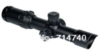 New Sniper Tactical 1-4x28 Mil-Dot Illuminated Rifle Scope With Flip Up Covers