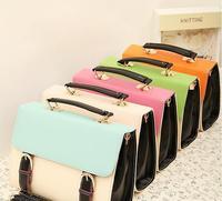 women handbags hot sale bolsa free shipping! 2014 new female bag color contrast retro mobile shoulder messenger