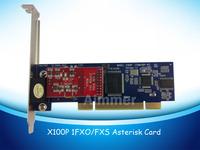 X100P 1 FXO asterisk card for voip ippbx ip pbx support standard dahdi driver