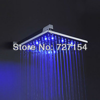 Free shipping 12 inch Brass Shower faucet Head with Color Changing LED Light