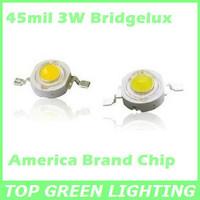 10 x LED Chip Bridgelux 3W 45mil 200-220LM High Power LED Bead 3 Watt Bridgelux LEDs Diodes for Spot/Bulb/Wall Lights