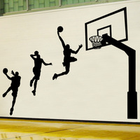 Wall Stickers Boys Bedroom dorm school gymnasium sports culture decorative wall stickers 90806 Basketball