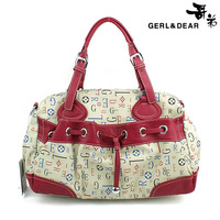 Ultralarge rose letter print women's handbag bag messenger bag