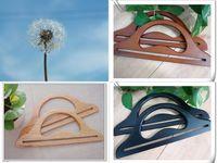 Wool long semi circular hanger all-match bag handle wooden handle