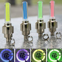 4pcs Multicolor Car Bike Bicycle Cycling Tire Wheel Valve Neon LED Flash Light