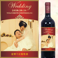 Custom Personalized ur own photo red wine sticker tag 10*14.5cm gift  jjj164706