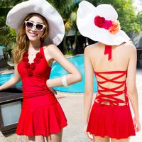 Swimwear hot spring female swimsuit small push up steel dress style  swimwear bikinis