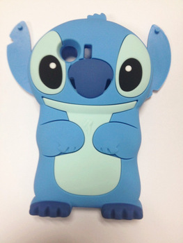 Lovely Stitch 3D Silicone Case For .Samsung GALAXY Y S5360 High Quality Cell Phone Case Silicone