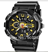 AK1383 Digital Waterproof Diving Watch with AL35 Movement, Plastic Case, TPU Rubber Strap & Backlight ,free shipping