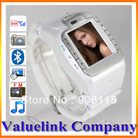 White N388 Unlocked Touch Screen Watch Phone 1.4' Cell Phone Watch Mobile MP3/MP4 FM Camera ME0018